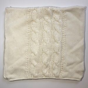 POTTERY BARN ivory cream cable knit pillow cover